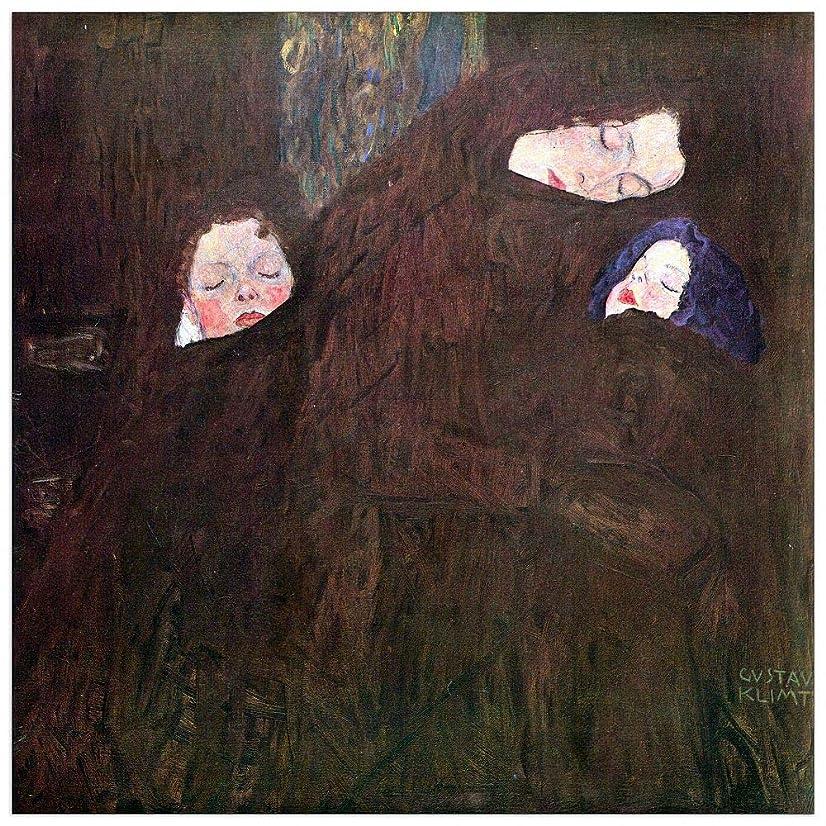 ArtPlaza TW90395 Klimt Gustav - Mother with Children Decorative Panel 23.5x23.5 Inch Multicolored
