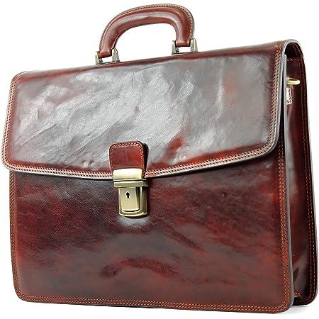 modamoda de - A007 - ital. Business Laptop Akten Tasche Leder