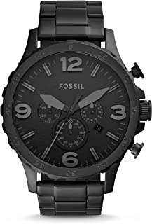 Fossil Stainless Steel Mens Watch With Black Face