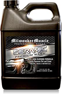 MILWAUKEE MUSCLE Car Shampoo - Professional Ceramic Car Wash Soap for Cars, Motorcycles, RV's and Boats- Large 32 Fl Oz pH Neutral Formula - Rejuvenates Paint and Ceramic Coating for Cars