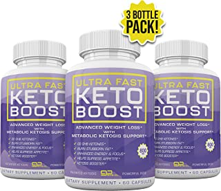 Ultra Fast Keto Boost - Advanced Weight Loss with Metabolic Ketosis Support - 800MG - 180 Capsules - 90 Day Supply