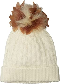 Polo Ralph Lauren - Feather Pom Cashmere Blend Hat