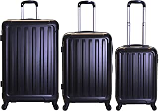 1399270d5 Slimbridge Luggage Set of 3 Hard ABS Shell Suitcases Large Medium and Carry On  4 Wheels