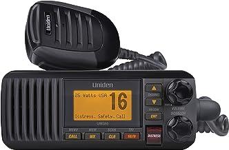 Uniden UM385BK 25 Watt Fixed Mount Marine Vhf Radio, Waterproof IPX4 W/ Triple Watch, Dsc, Emergency/Noaa Weather Alert, A...