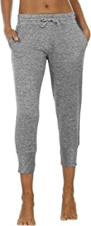 icyzone Women's Active Joggers Sweatpants - Athletic Yoga Lounge Capris with Pockets