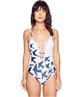 Mara Hoffman - Birds Lattice Front One-Piece