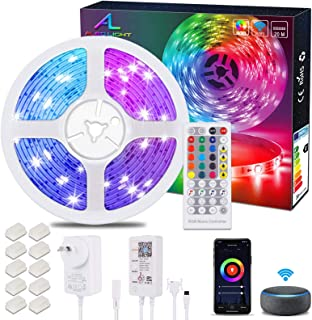 Alexa WiFiLED Strip 20M / 65.6Ft, Ultra Long ALED LIGHT RGB LED Light Strip, Smart Phone APP Controlled Music Sync, Work ...