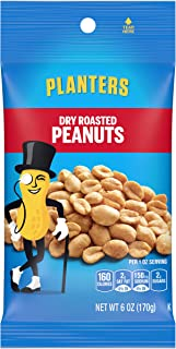 Planters Dry Honey Roasted Peanuts (6 oz Bags, Pack of 12)