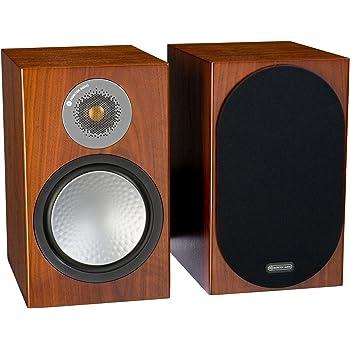 Monitor Audio Silver 100 Bookshelf Speakers - Pair (Walnut)