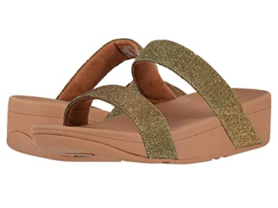 FitFlop Lottie Glitzy Slide (Artisan Gold) Women