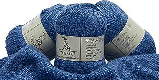 TEHETE Fil de Laine, 35% Fil de Laine Mérinos, 3 Torons, 50 g, pour Couverture, Chaussette Pull-Over Echarpe Crochet & Tri...