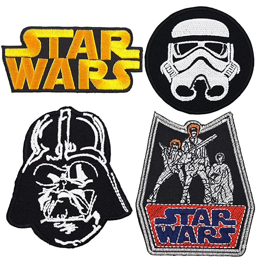 Set of 4 - Star Wars Iron on Embroidered Patches Super Saving Pack chxyurqosqqdl924