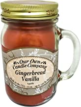 Our Own Candle Company Gingerbread Vanilla Scented 13 Ounce Mason Jar Candle