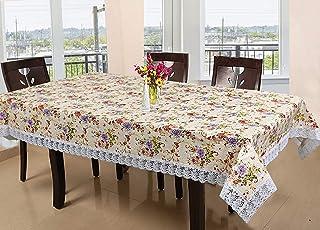 مفرش طاولة الطعام ذات 6 مقاعد من بلاستيك بي في سي من كوبر انداستريز، (كريمي)
