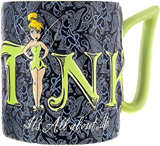 Disney Parks Exclusive Tinkerbell Tink Its All About Me Ceramic Mug, Blue, 12 ounce