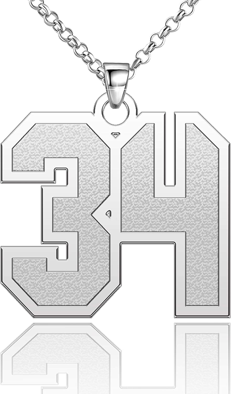 Popular brand Chris 35% OFF Johnsons Custom Number Necklace Baseball