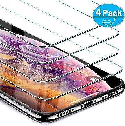 Beikell [Lot de 4] Verre Trempé pour iPhone XS/X, Film Protection d'écran en Verre Trempé Film Protecteur Vitre - Dureté 9H, sans Bulles, Anti-Rayures pour iPhone XS/X- Compatible Fonction 3D Touch