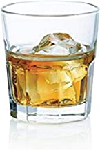 Ocean Centra Rock (Whiskey/Whisky) Glasses Pack Of 6, P01960, Clear, 300 ml, Glass