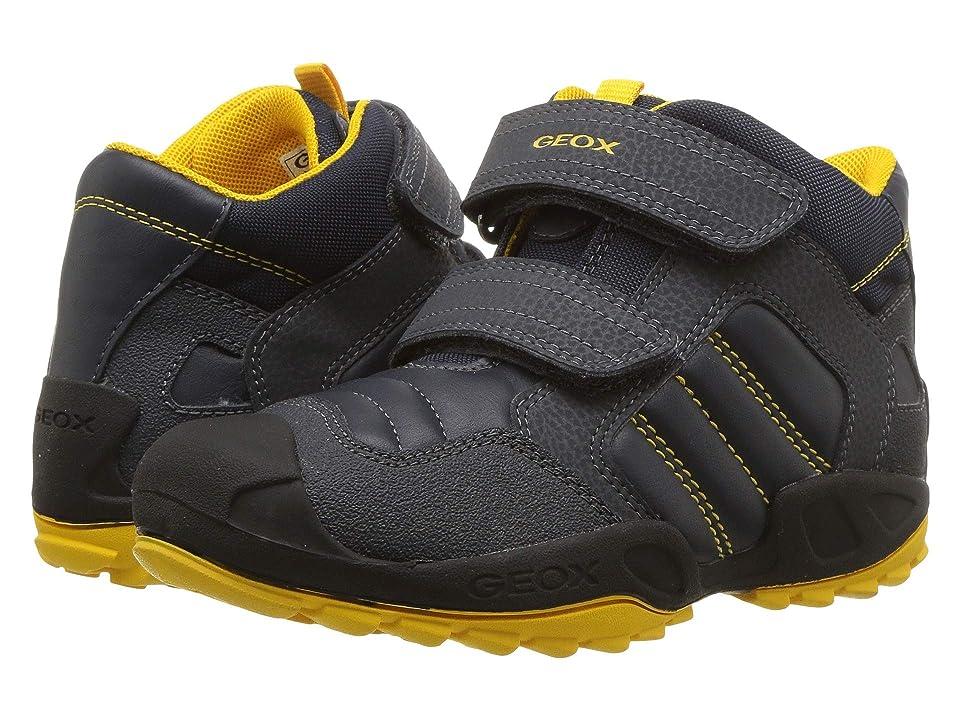 Geox Kids New Savage Boy 11 (Little Kid) (Navy/Yellow) Boy