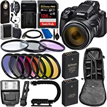 Nikon COOLPIX P1000 Digital Camera with Deluxe Accessory Bundle - Includes: SanDisk Extreme PRO 128GB Memory Card, Extra Battery & Much More (Renewed)