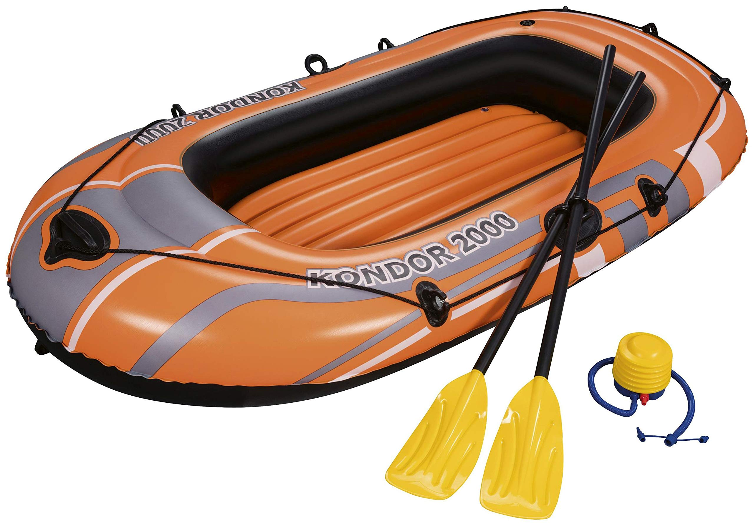 Bestway 2 person Inflatable Raft Boat Dingy Set including 2 Oars Foot Pump NEW