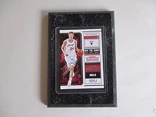LAURI MARKKANEN CHICAGO BULLS PANINI CONTENDERS NBA 2018 (WHITE JERSEY) PLAYER CARD MOUNTED ON A 4