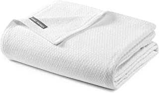 Gavin 3-Piece Solid Woven Jacquard Matelassé Bedding Cover - 100% Cotton Quilted Coverlet Set (King, White)