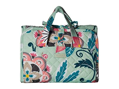 Vera Bradley Iconic Compact Hanging Organizer (Mint Flowers) Travel Pouch