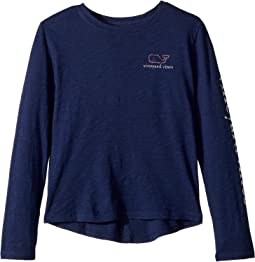 Long Sleeve Slub Whale T-Shirt (Toddler/Little Kids/Big Kids)