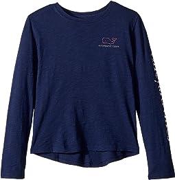 Long Sleeve Slub Whale T-Shirt (Toddler/Little Kids/Big Kids)
