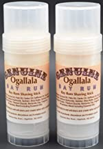 product image for Two (2) Genuine Ogallala Bay Rum Bay, Regular scent rum shaving sticks. This is a version of our popular Genuine Ogallala Bay Rum Shaving Soap in Shaving Stick form.