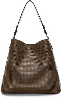 Laser Cut Vegan Leather Designer Tote Hand-bag - MSRP $128