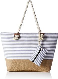 HIKARO große Strandtasche wasserabweisend und robust mit Reißverschluss