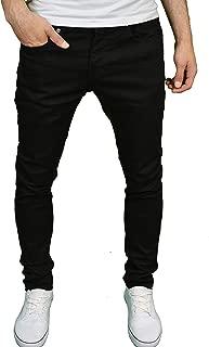 Enzo Mens Designer Skinny Stretch Washed Denim Jeans