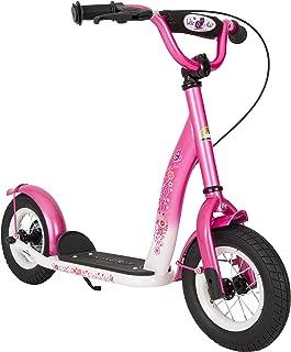 BIKESTAR Roller Kinderroller Tretroller Kickscooter mit Luftreifen für Mädchen ab 4-5 Jahre | 10 Zoll Classic Kinder Scoot...