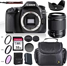 Canon EOS 80D DSLR Camera w/All-Purpose Zoom Lens - Tamron AF 18-200mm F/3.5-6.3 Di-II VC & Accessory Bundle