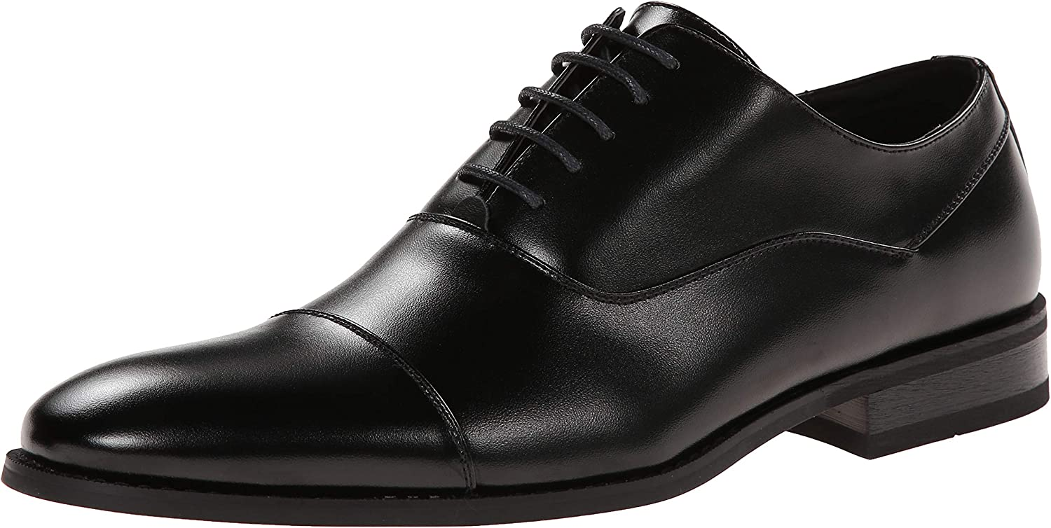 Unlisted by Kenneth Cole Men& 39;s Half Time Oxford, Black, 8.5 M US