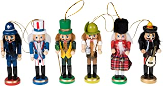 Clever Creations Wooden Christmas Nutcracker Ornaments Variety 6 Pack | Festive Decorations | 5