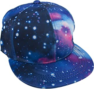 TOPTIE Unisex Snapback Hat/Flat Bill Baseball Cap, with Space Galaxy Printed