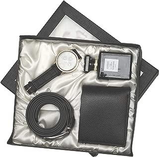 Avighna Men's Perfume, Watch, Wallet and Belt Set (Multicolour)