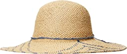 PBL3095OS Woven Paper Sun Brim w/ Color Pop Pattern