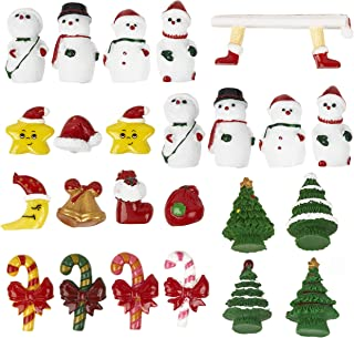 SpirWoRchlan Christmas Decorations Sale,Mini Santa Claus Snowman Miniature Figurine Christmas Figures Doll House Decoration Fairy Garden Ornaments DIY Resin Craft Kids Toys Xmas Gifts Stocking Fillers