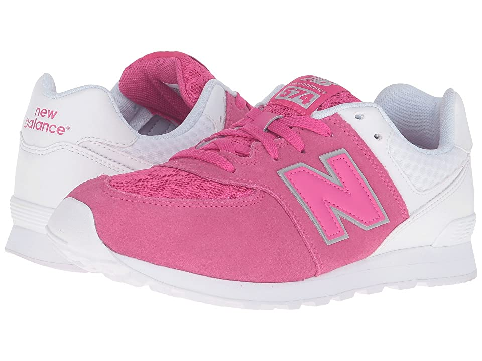 New Balance Kids 574 Breathe (Big Kid) (Pink/White) Girls Shoes