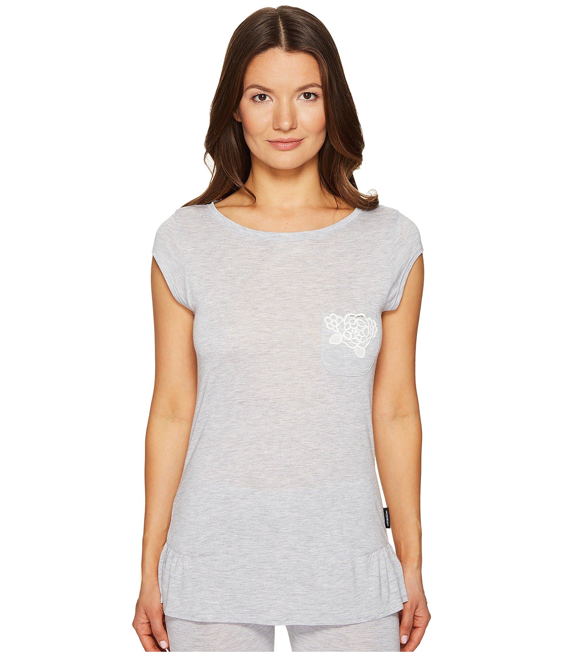 Camisa de Pijama para Mujer Emporio Armani Neo Romantic Macrame Viscose Lounge Cap Sleeve Top  + Emporio Armani en VeoyCompro.net