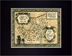 Map of Shakespeare's Romeo and Juliet Fine Art Print Reproduction