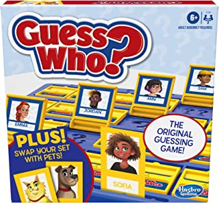 Hasbro Gaming Guess Who? Board Game with People and Pets, The Original Guessing Game for Kids Ages 6 and Up, Includes Peop...
