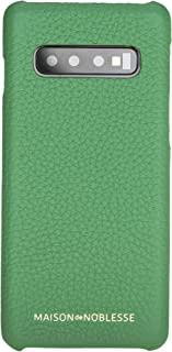 Maison de Noblesse Samsung Galaxy S10 Plus Leather Carrying Case, Leather Back Cover Made up of Genuine Leather for Galaxy s10 Plus (Green)