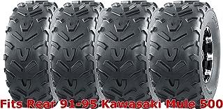 Set 4 WANDA ATV tires 22x9-10 Front & 22x11-10 Rear 91-95 Kawasaki Mule 500
