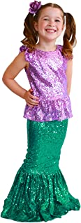 Toddler Girl's Mermaid Costume for Birthday Party, Dress up Play and Halloween