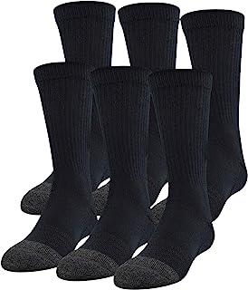 Youth Performance Tech Crew Socks, 6-Pairs